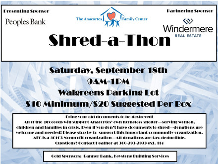Save The Date: Shred-a-Thon Saturday, September 18th!