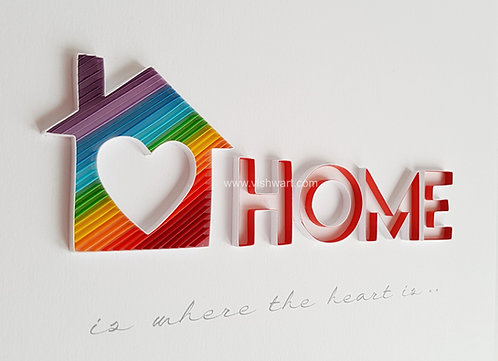 Quilled Rainbow Home Wall Art