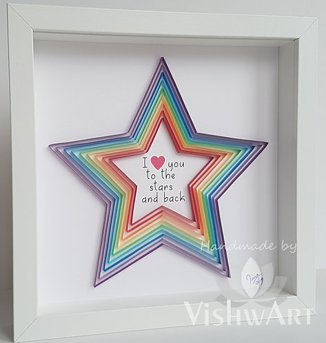 Star Wall Art Paper Quilled