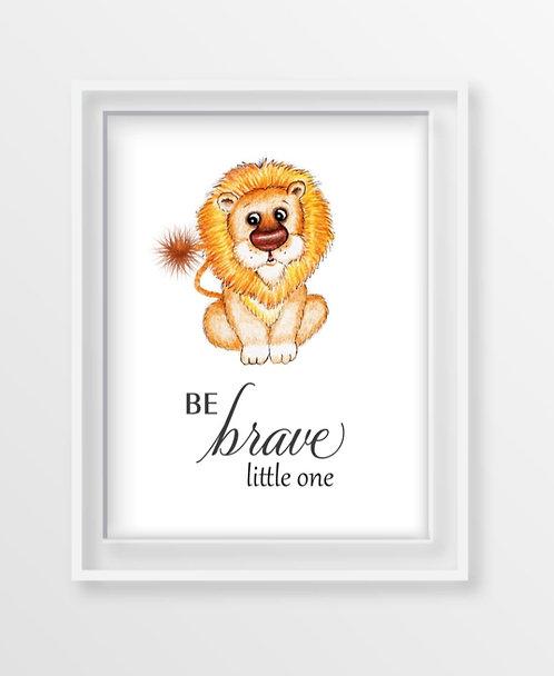 Baby Lion Motivational Nursery Art