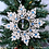Thumbnail: Personalised Quilled Snowflake with beaded dangling letters