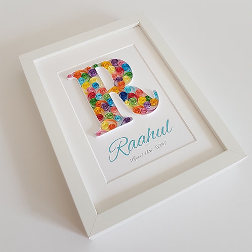 Quilled Personalised Letter Nursery Art