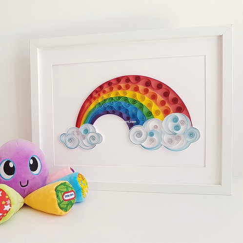 Rainbow Quilled Wall Art