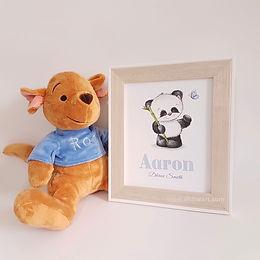 Baby Panda Personalised Nursery Art