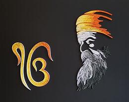 Guru Nanak DevJi with Ik Onkar Quilled Wall Art
