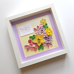 Floral Quilling Personalised Keepsake Wall Art