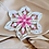Thumbnail: Delicate Quilled Pink Paper Snowflake - Tree Ornament
