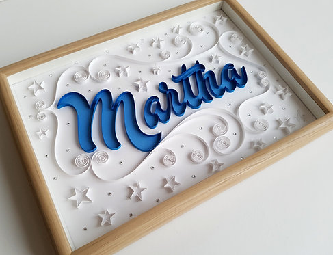 Quilled Name with Stars