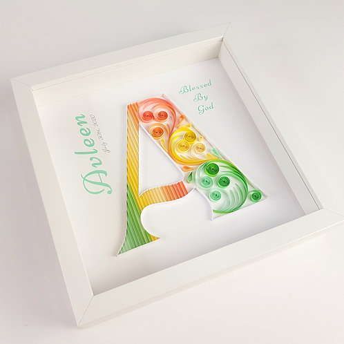 Tropical Monogram - A Quilled Wall Art
