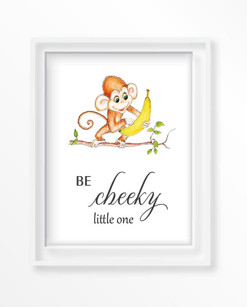 Baby Monkey Motivational Nursery Art