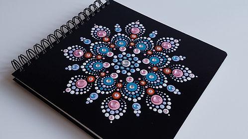 Hand Painted DotArt Mandala Notebook