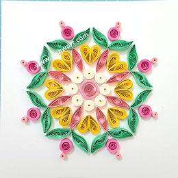 Flower Heart Mandala Template - Digital Download