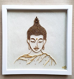 Buddha Paper Quilled Wall Art