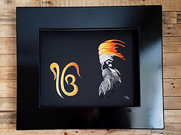 Guru Nanak DevJi with Ik Onkar Quilled Wall Art with Lighting