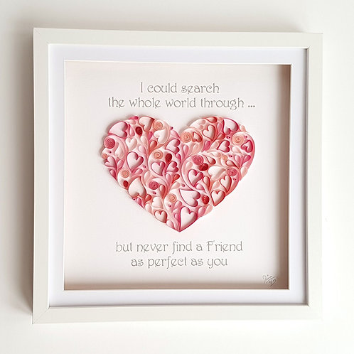 Heart - Perfect Friend Wall Art