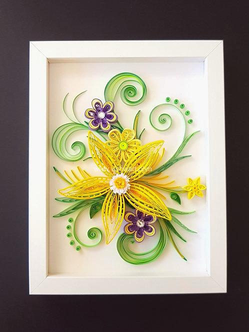 Spring Bloom Quilled Floral Frame