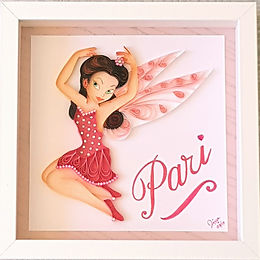 Fairy Quilled Wall Art with Name