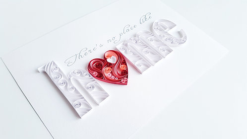 HOME Paper Quilled Wall Art