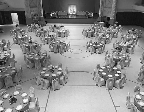 Wedding setup at the Coliseum in Sioux Falls