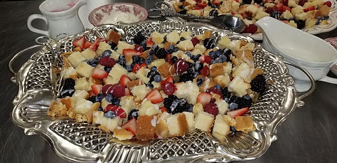 Original with berries cubed-silver tray.