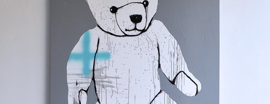 A teddy bear in January 2020