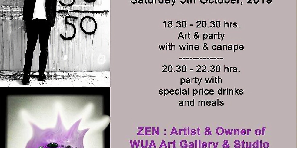 Art and party with Mr.Zen & djm