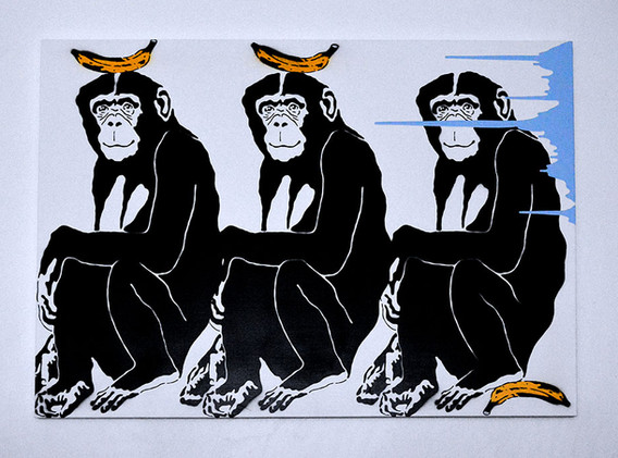 Title : The 3 monkeys in March 2019
