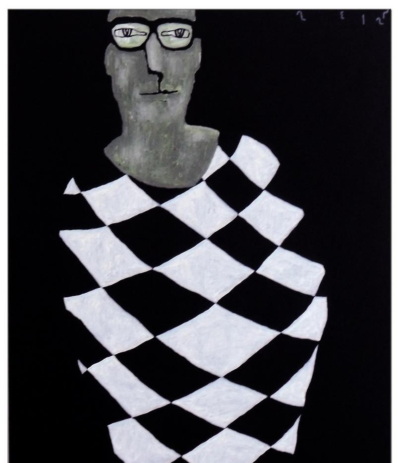 re-A man in diamond pattern cloth No2.jp