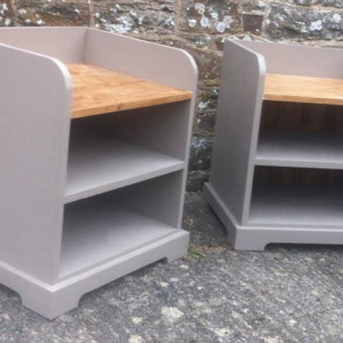Solid Wood Storage Seats