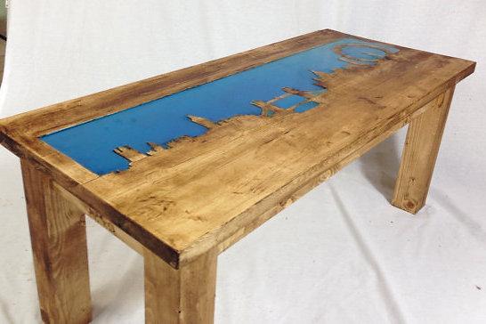 Glow In The Dark Furniture bespoke solid wood furniture | london skyline glow in the dark