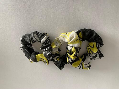 set of 3 hair scrunchies, design #312