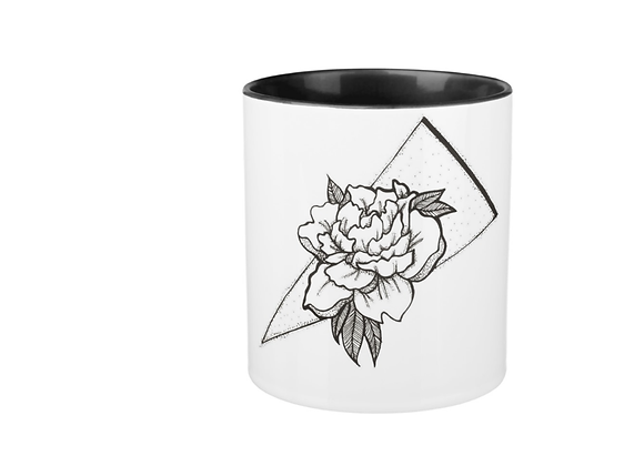 11 0z. Two-toned Japanese Carnation Mug
