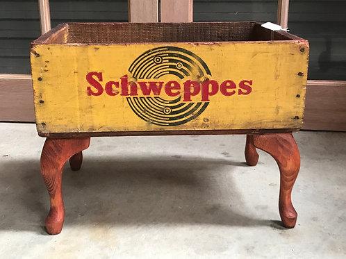 1960's Vintage Schweppes box WATNOT Storage