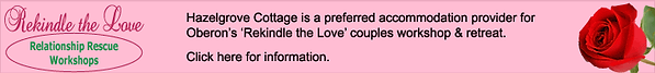 banner advert for Rekindle the Love workshops