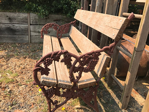 Cast Iron and Timber Garden Seat