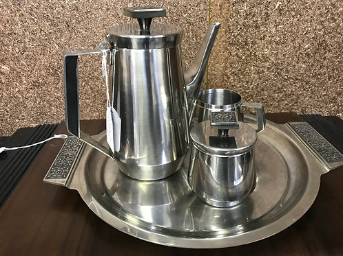Retro 1970's Wiltshire Stainless Steel Coffee Set and Tray
