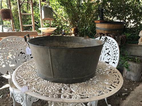 Medium sized Vintage Galvanised Wash tub
