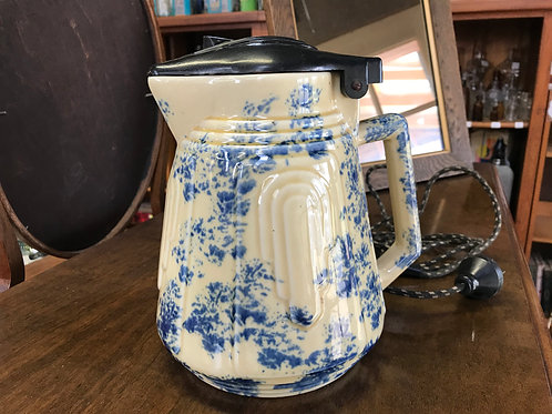 Vintage Mottled Blue Electric Kettle