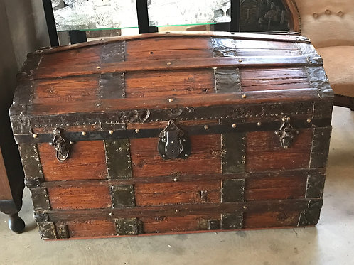 Antique Dome Topped Trunk - 19th Century