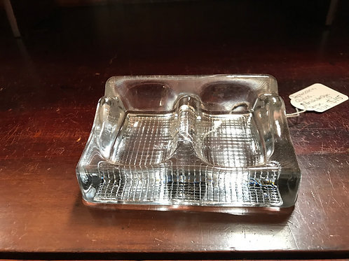 Depression glass double desk tidy