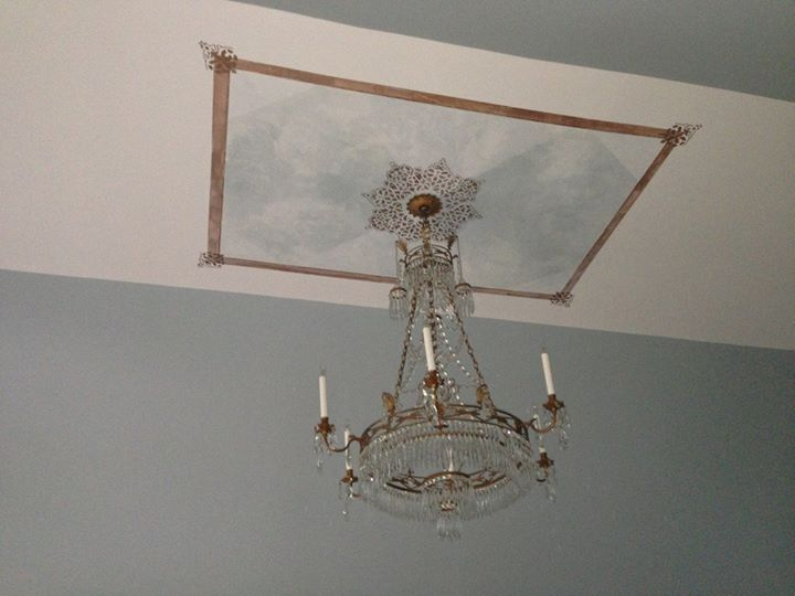 Chandelier installed! Looks exactly how I pictured it would