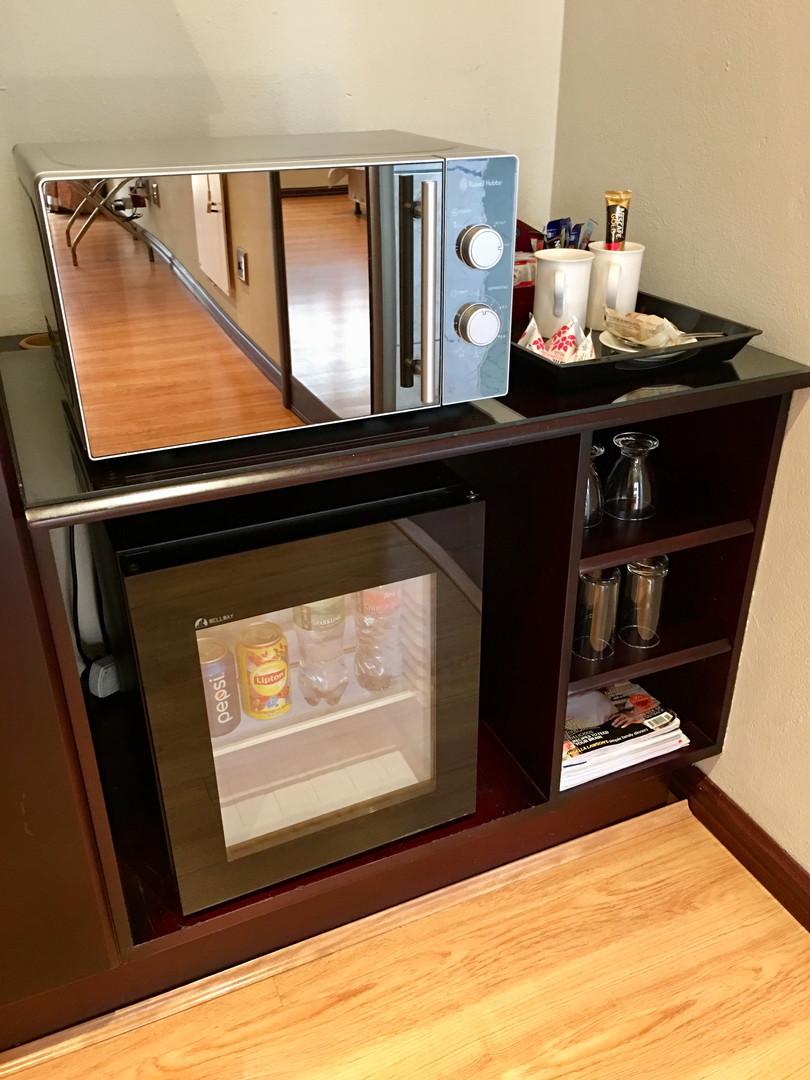 Mini fridge and microwave.JPG