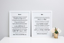 his and hers vow prints