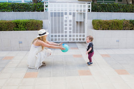 AUNTIE WANTS TO PASS THE BALL TO BABY BO