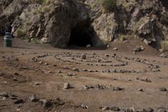 Stone design outside a cave in Los Angle