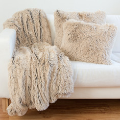 Shag Throw blanket and pillow collection