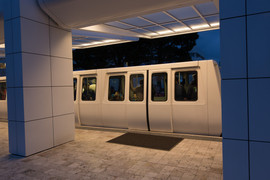 Getty Museum evening tram stop.jpg
