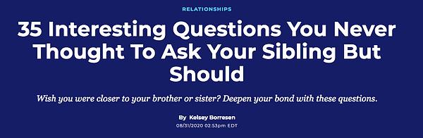 Sibling bonding Dr. Rebecca Leslie