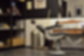Bilde av barberstol fra salongen