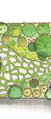 Jardin dans un esprit bucolique